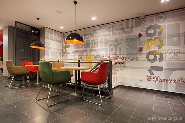 土耳其伊斯坦布尔肯德基餐厅设计 餐厅设计 快餐店设计 店面设计 土耳其 商业空间设计