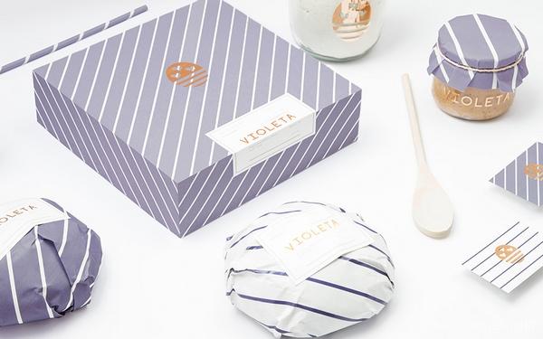 阿根廷 VIOLETA 面包店品牌设计 标志设计 名片设计 包装设计 VI设计