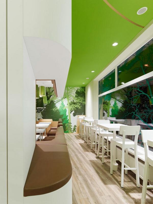 德国慕尼黑 Wienerwald 餐厅设计 餐厅设计 德国 店面设计 商业空间设计