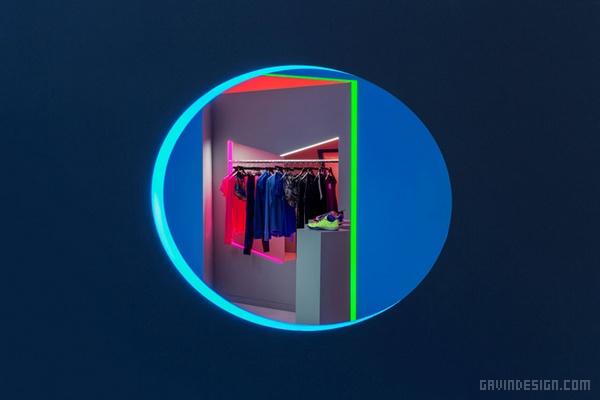 纽约 Nike 女装秋季假日系列展示设计 美国 展厅设计 专卖店设计
