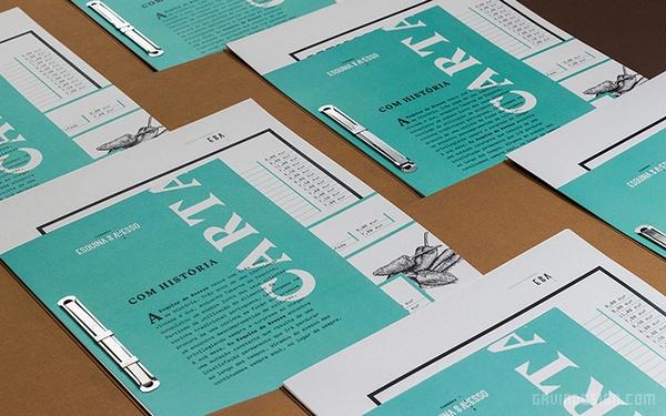 葡萄牙 Esquina 餐厅VI设计 餐厅设计 画册设计 标志设计 图标设计 VI设计 SI设计