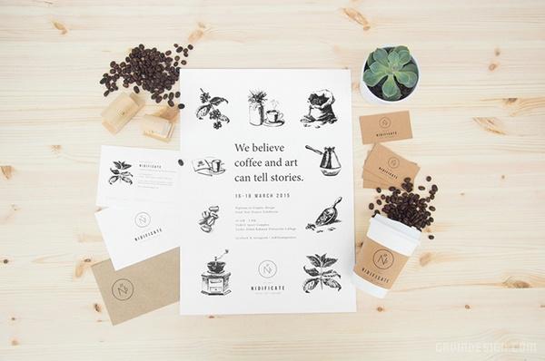Nidificate 咖啡馆品牌VI设计 概念店设计 VI设计