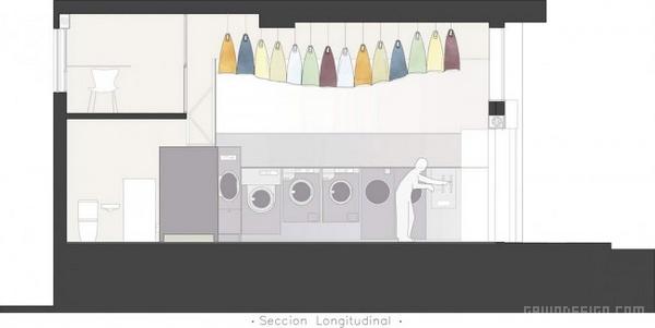 西班牙 Clothsline 洗衣店设计 西班牙 洗衣店设计 店面设计 干洗店设计 商业空间设计
