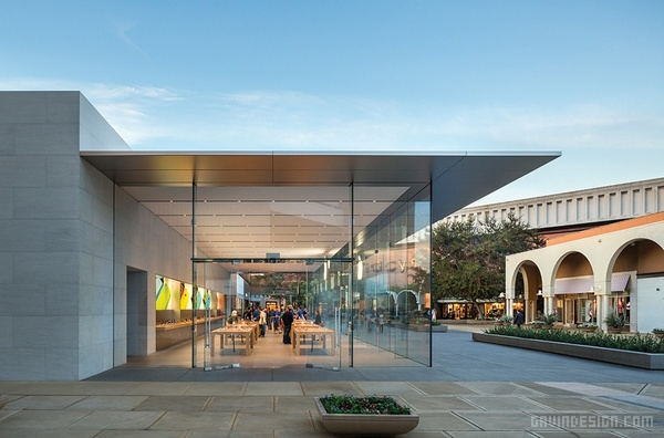 美国斯坦福帕洛阿尔托市苹果专卖店设计 美国 店面设计 商业空间设计 专卖店设计