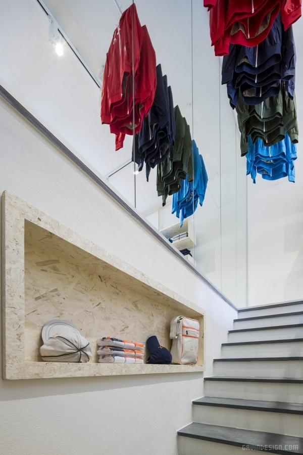 意大利 SUN68 服装店设计 意大利 店面设计 商业空间设计 专卖店设计