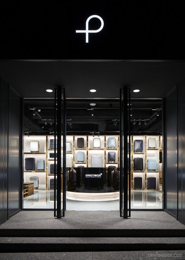日本东京 proteca 箱包店设计 箱包店设计 日本 旗舰店设计 店面设计 商业空间设计 专卖店设计