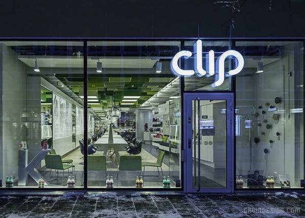 瑞典 Clip 美发沙龙设计 美发沙龙设计 理发店设计 店面设计 商业空间设计