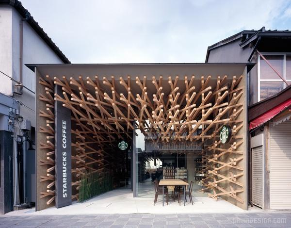 日本福冈县星巴克咖啡厅设计 餐厅设计 日本 店面设计 商业空间设计 咖啡厅设计