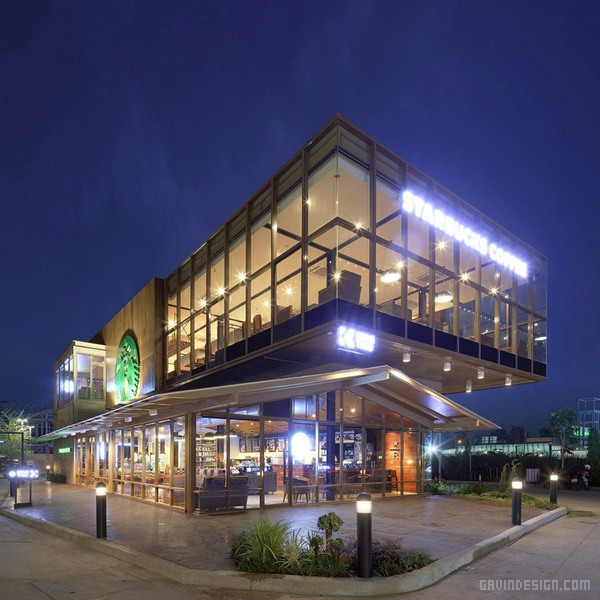 泰国曼谷星巴克咖啡店设计 精品店设计 店面设计 商业空间设计 咖啡馆设计 咖啡店设计