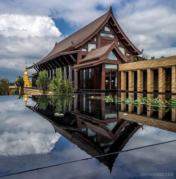 西双版纳万达文华度假酒店设计 酒店设计 中国