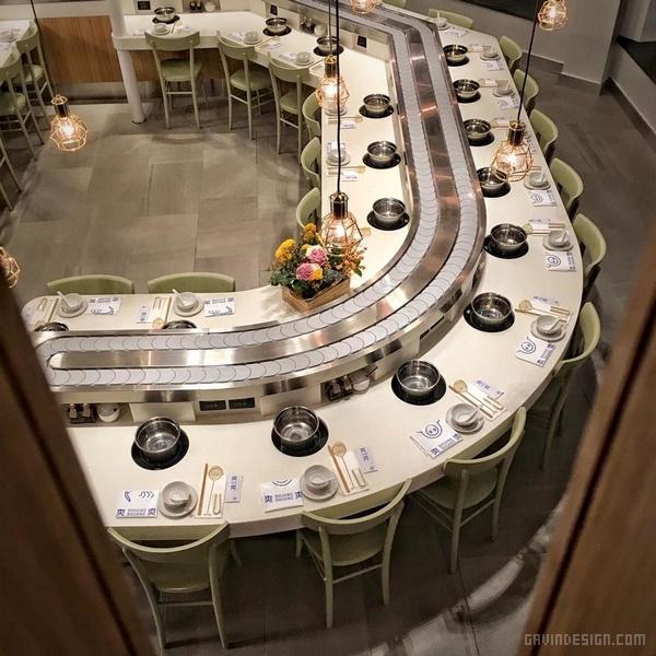 """伦敦""""爽爽""""回转火锅店设计 菜单设计 英国 火锅店设计 店面设计 商业空间设计 VI设计 SI设计"""
