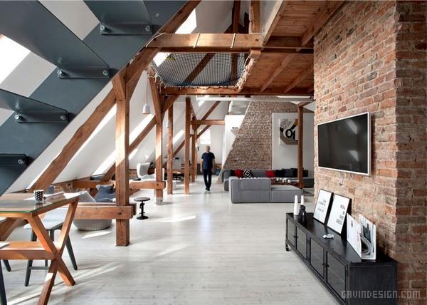 波兰波兹南阁楼公寓公寓设计 公寓设计
