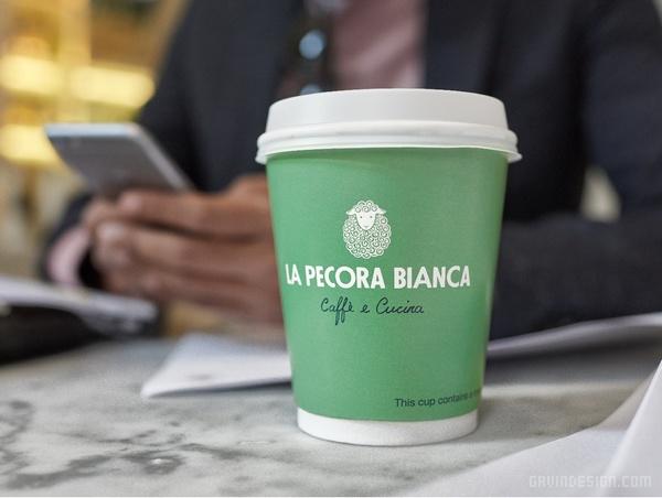 纽约百老汇 La Pecora Bianca 餐厅VI设计 菜单设计 美国 标志设计 图标设计 包装设计 VI设计 SI设计