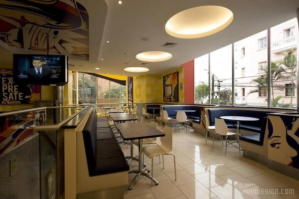 秘鲁利马 Bembos 汉堡店设计 餐厅设计 汉堡店设计 快餐店设计 店面设计 商业空间设计