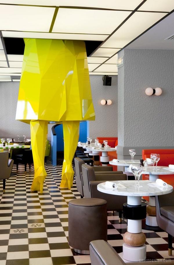 巴黎 Germain 咖啡厅设计 餐厅设计 法国 咖啡馆设计 咖啡厅设计