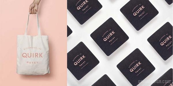 Quirk 酒店品牌形象设计 酒店设计 海报设计 品牌形象设计 包装设计 VI设计