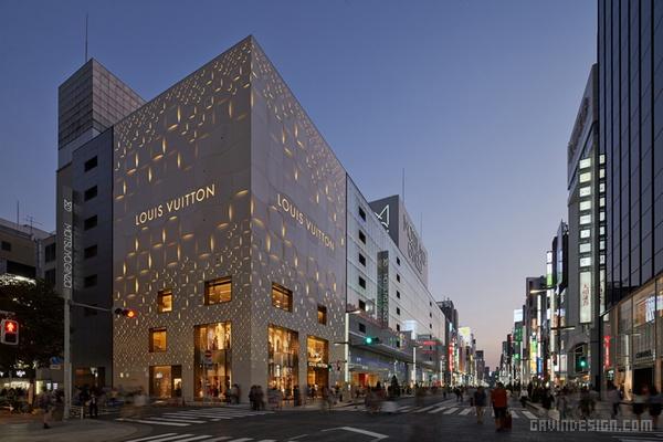 东京路易威登旗舰店改设计 日本 店面设计 商业空间设计 专卖店设计