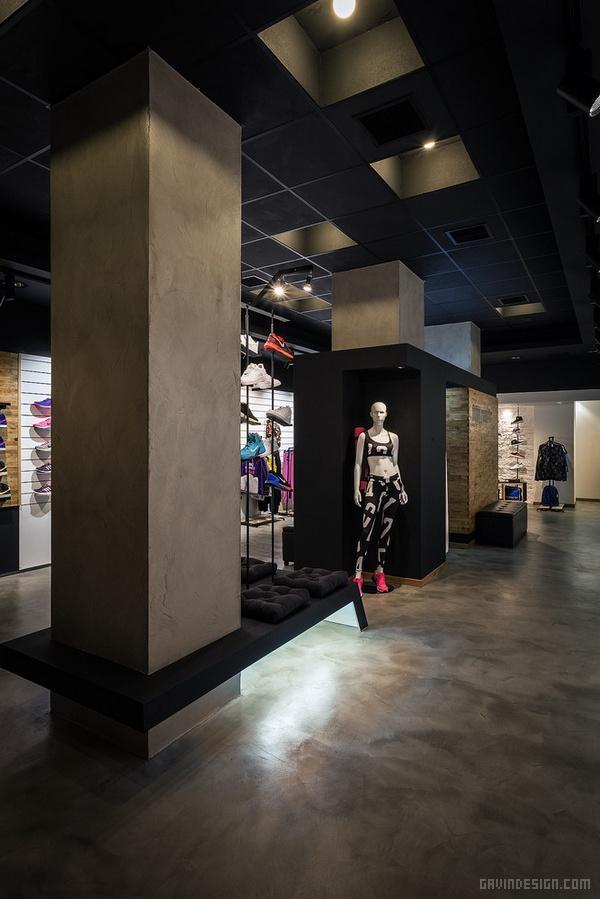 希腊塞萨洛尼基 AI 运动专卖店设计 店面设计 希腊 商业空间设计 专卖店设计