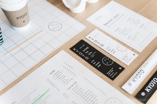 Kyoto 咖啡厅品牌VI设计 菜单设计 标志设计 店面设计 包装设计 俄罗斯 VI设计 SI设计