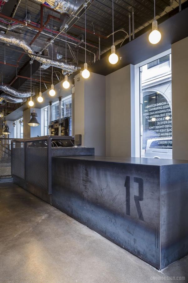 伦敦 1Rebel 健身房设计 英国 咖啡店设计 健身房设计 专卖店设计