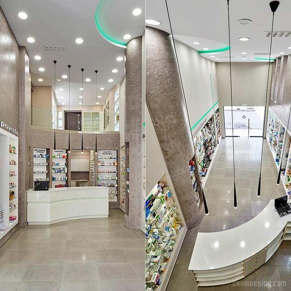 希腊雅典 ΦAPMAKEIO 药房设计 药房设计 药店设计 店面设计 希腊 商业空间设计