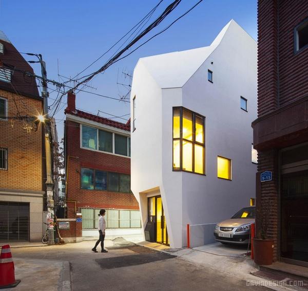 韩国首尔 white horn 办公楼设计 韩国 办公空间设计 办公楼设计