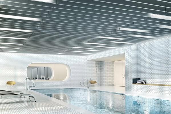 纽约 Via West 57 奢华住宅楼设计 美国 公寓设计 住宅设计
