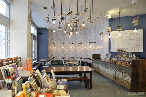 纽约曼哈顿 McNally Jackson 书店设计 美国 店面设计 商业空间设计 咖啡馆设计 书店设计