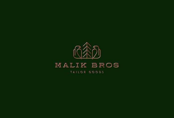 Malik Bros 定制服装VI设计、标志设计 橱窗设计 标志设计 包装设计 VI设计
