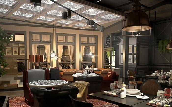 乌克兰基辅 Black Market 商务餐厅设计 餐厅设计 美国