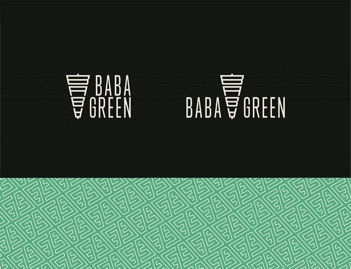 德国 Baba Green 餐厅视觉形象设计 标志设计 德国 品牌形象设计