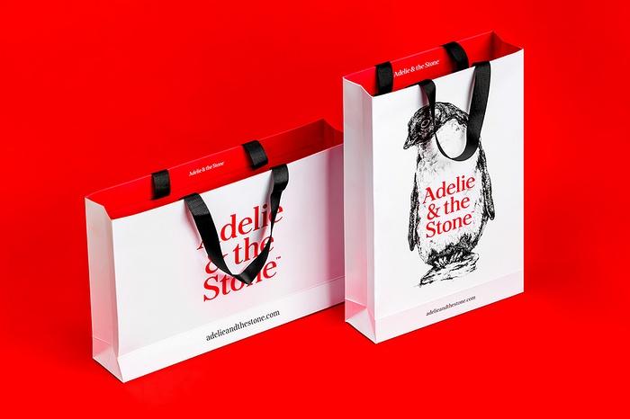 Adelie&the Stone 礼品包装设计 标志设计 店面设计 名片设计 包装设计 VI设计 SI设计