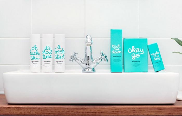 Aquatadeus 护肤品重塑品牌形象设计 品牌形象设计 包装设计 APP设计