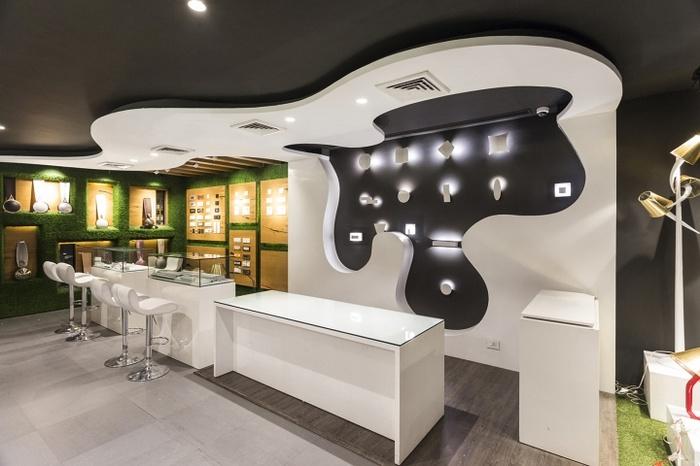 印度昌迪加尔 Disha 电器灯具店设计 灯具店设计 店面设计 商业空间设计 印度 专卖店设计
