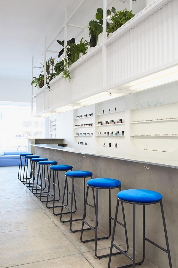 美国洛杉矶 Color Camp 美甲店设计 美甲店设计 美国 店面设计 店铺设计
