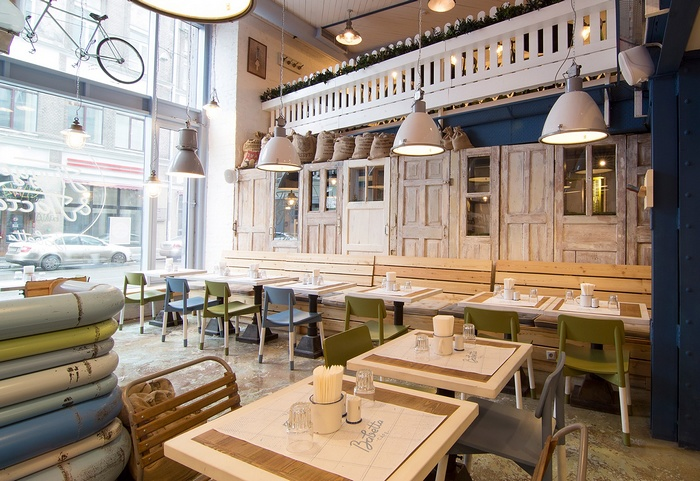 莫斯科 Babetta 咖啡馆形象设计 店面设计 品牌形象设计 咖啡馆设计