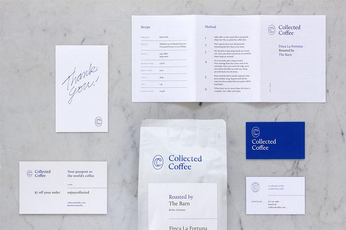 美国纽约 Collected 咖啡VI设计 菜单设计 美国 网站设计 图标设计 包装设计 VI设计