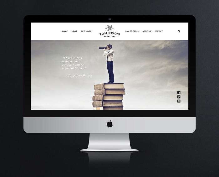 曼彻斯特 Tom Reids Bookstore 企业VI形象设计 英国 网站设计 画册设计 标志设计 店面设计 名片设计
