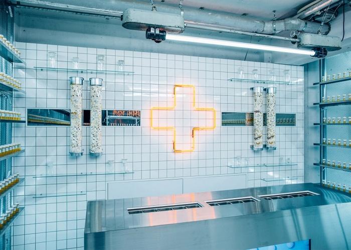 日本东京 Fast Food Aid 店面设计 药店设计 店面设计 保健品店设计 东京