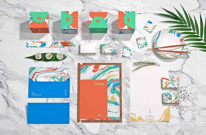 Toko 日本餐厅VI视觉形象设计 餐厅设计 菜单设计 标志设计 日本 VI设计