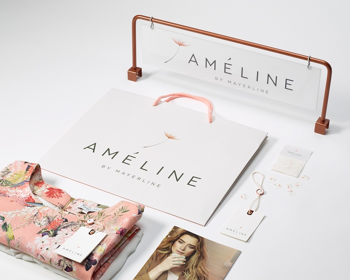 Ameline 服装标志设计、VI设计 标志设计 VI设计