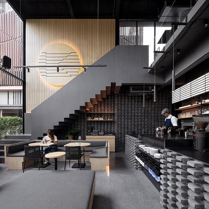 泰国曼谷 Kaizen 咖啡厅设计 泰国 咖啡馆设计 咖啡厅设计
